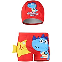JLWF Traje De Baño para Niños Dinosaur Pattern Boy Swimwear Set Reda-L