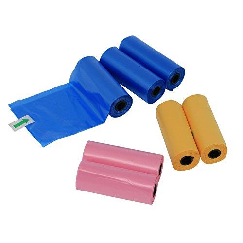 confronta il prezzo Yommy® Sacchetti per bisogni dei cani 24/48/72 rotoli rolls, confezione da 360/720/1080 YM-0281 (24 Roll / 360 unità ) miglior prezzo