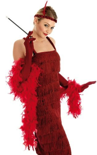 Roaring 1920S Girl Red Ladies Costume for Flapper Gangsters & Molls Fancy Dress Up Outfits by Fun (Roaring 20s Kostüm)
