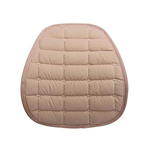 Rumas chaud lombaire pour le dos support Office Home de siège de voiture Coussin de chaise, Coton, beige, 39 x 38cm