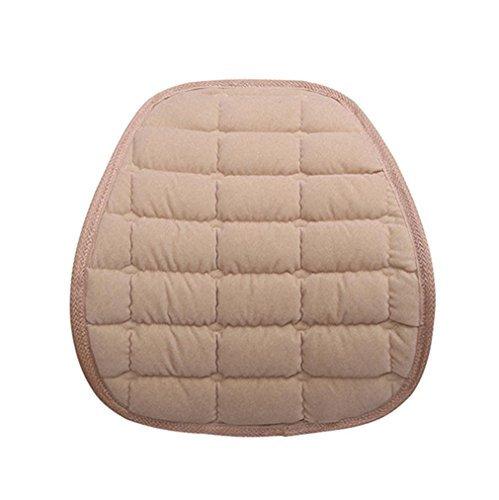 Rumas Warm AllLife Lendenwirbelstütze für Office Home Auto Sitzkissen, baumwolle, beige, 39 x 38cm