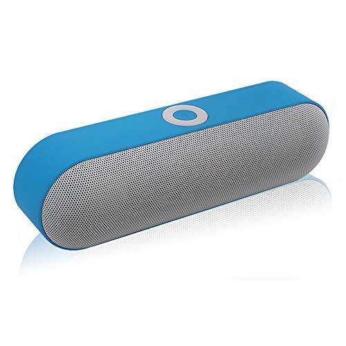 CWWHY Tragbarer Bluetooth Lautsprecher, Lauter Stereo Sound, Satter Bass, IPX5 Wasserdicht, 33 Ft Bluetooth Reichweite Und Integriertes Mikrofon Für Drahtlose Outdoor Partys,Blue
