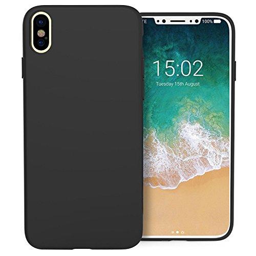 Beste Qualität iphone X Schutzhülle, Silikon Gel Gummi stoßfest Fall für Apple iPhone X (2017), schwarz - Iphone-gel-fall