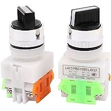 AC 660V 10A NÚMERO/NC DPST Posición 2 Enclavamiento Selector Interruptor Rotatorio 2 PIEZAS