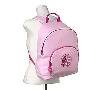 41kbhCfmCqL. SS300  - TOUS Mochila mediana en nylon de color rosa combinado con parche de goma. Cierre con cremallera. Apliques personalizados…