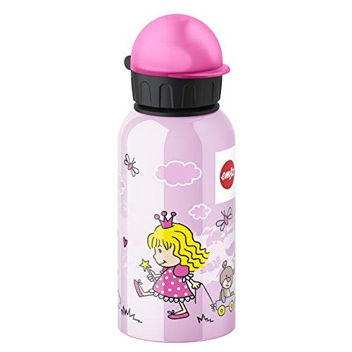Emsa Princesa - Botella infantil, 0,4 l, sistema de cierre hermético, higiénico,...