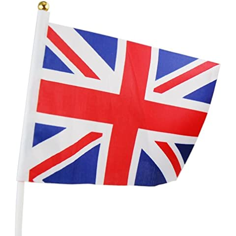Topro Waving Union Jack Flags Queen Diamond Jubilee Street Party Union Flag bunting by Topro