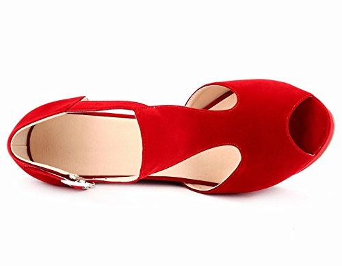 CFP ,  Damen Peep Toes Rot