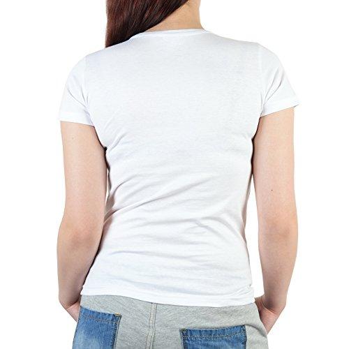 Damen T-Shirt zum Geburtstag: Biker Baby seit 70 Jahren - Tolle Geschenkidee - Farbe: weiss Weiß