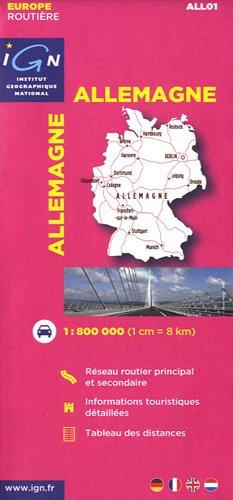All01 Allemagne 1/800.000 par Ign