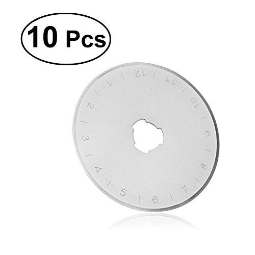 ULTNICE 10 unids cuchillas corte circular 45 mm cuchillas