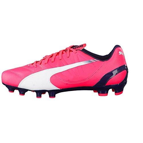Puma  evoSPEED 3.3 FG, Chaussures de football homme Orange - Bright Plasma-White Peacoat