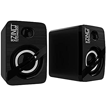 Zinq Technologies Beast Portable Laptop/Desktop USB Powered Multi-Media Speaker with AUX Input (Black)