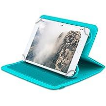 Home Funda tablet universal de 7 pulgadas con soporte giratorio diseño ZigZag (Turquesa)