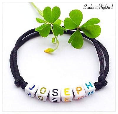 Bracelet avec prénom JOSEPH (réversible, personnalisable) homme, femme, enfant