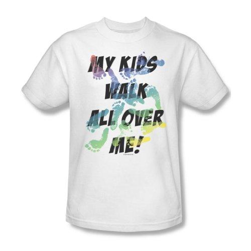 Walking Kids-Maglietta da uomo, colore: bianco Bianco