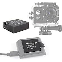 DURAGADGET Batería Recargable Para QUMOX SJ4000 | SJ5000 (WIFI) | Tonbux | Neewer + Gamuza Limpiadora - 3.7V 900mAh - ¡Perfecta Para Reemplazar A La Original!