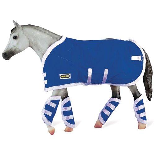 breyer-set-di-coperta-e-scaldamuscoli-per-cavallo-in-miniatura-5-pz-scala-19-colore-blu