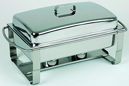 APS Chafing Dish -Caterer- 67 x 35 cm, Höhe 35 cm GN-Behälter 1/1, 9 Liter Edelstahl rostfrei Wasserbecken inkl. Vorrichtung für Heizplatte 9 Liter Chafing Dish