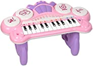 M SANMERSEN Mini Piano for Kids, Beginner Keyboards Pianos with LED Lights Electric Piano with Teaching Mode M