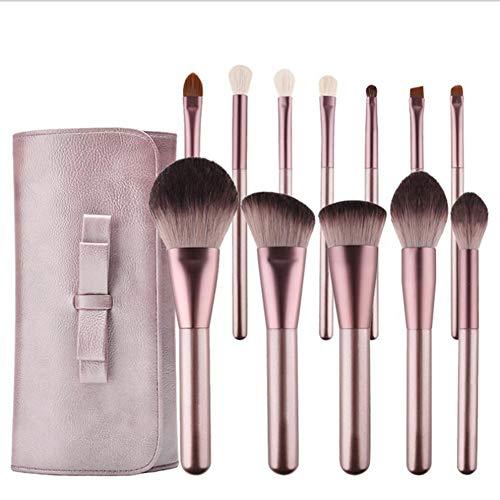 Lxmhz Brosse de Maquillage Cosmétique Makeup Brushs 12 lâche Poudre Blush Fondation Contour Ombre à paupières Sourcils lèvre Cils Curling Peigne à Sourcils Pinceaux kit
