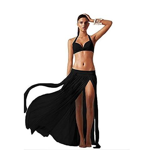New Ladies Black Genie Style maxi Skirt Cover Up Swimwear