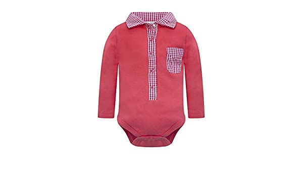 Parya Baby Infant Polo Collar Bodysuit Onesie