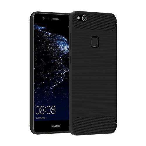 Cover Huawei P10 Lite, iVoler® Huawei P10 Lite Morbido Soft TPU Custodia con Massima Protezione Da Cadute e Urti Cover Case per Huawei P10 Lite - Nero Opaco
