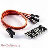 AZDelivery ⭐⭐⭐⭐⭐ DS18B20 Module mit Platine, Jumper Wire Kabel Temperatursensor Temperaturfühler, Wasserdicht für Arduino
