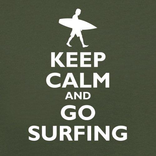 Keep Calm and Go Surfing - Herren T-Shirt - 13 Farben Olivgrün