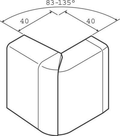 Preisvergleich Produktbild Hager tehalit. SL – Angulo Außen SL20055 Hat