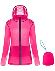 UV SUN PROTECT Jacke JIMMY Design Damen Verstaubarer Super leicht Coat Windbreaker Wasserdicht