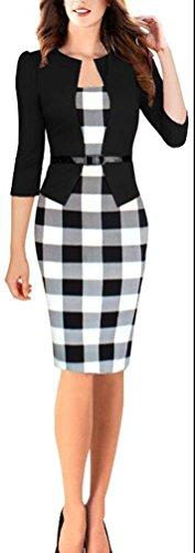 SunIfSnow Mädchen Schuluniform Set, Einfarbig Gr. S, Black(3/4 Sleeve) (Dolman Petite Sleeve)