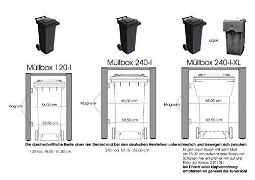 Mülltonnenverkleidung Mülltonnenbox Müllboxen Metall - 9