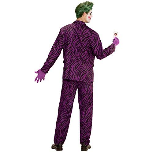 Joker Männer Kostüm - Amakando Bösewicht Herrenkostüm - M (50) - Schurke Karnevalskostüm Suicide Squad Outfit Halloweenkostüm Männer Batman Verkleidung The Joker Kostüm