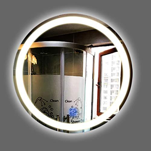 Espejo De BañO Led Iluminado, Espejo De Vanidad Redondo Moderno Sin Marco Montado En La Pared con Sensor...