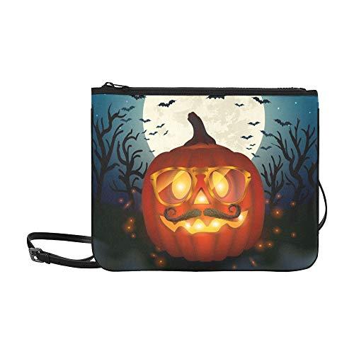 WYYWCY Halloween-Hipster-Kürbis-kundenspezifische hochwertige Nylon-dünne Handtasche Umhängetasche Umhängetasche