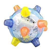 EXIU Pet Dogs Educational Developmental Shiny Ball Toy Bite-resistant Molar Chew Toy (13cm)