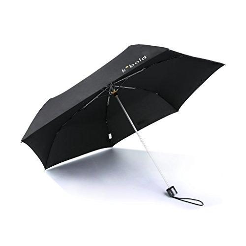 Kobold leicht Faltbarer Regenschirm 3Fold manuell geöffnet Regenschirm Reise Kompakt Wind UV Schutz Sonnenschutz Regen (Handle Double Long Tote)