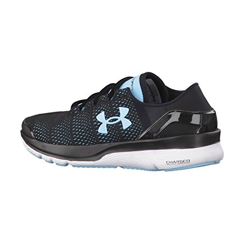 Under Armour Speedform Turbulence Running Shoe Women black 1289791-002 Black/Sky Blue/White