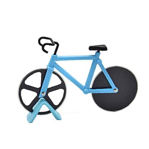 Culer Fahrradpizzaschneider Edelstahl Pizzamesser Zweirädrigem Fahrrad-Form-Pizza-Werkzeug-Fahrrad Runde Pizzaschneider