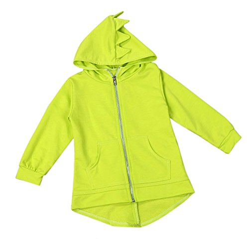 Baby Kapuzenpulli Honestyi Kinder Kind Baby Oberbekleidung Jacke Dinosaurier Stil mit Kapuze Headwear Mantel Kleidung (Gelb,90)