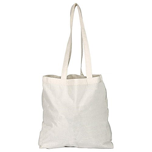 Pack of 1/3/5/10/25/50/100 Plain Natural Cotton Shopping Tote Bags Eco Friendly Shoppers