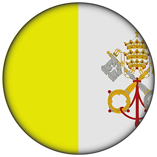 Pins Kirche (Button / Badge / Pin -- I Love Vatikan Fahne Flagge (Vatikan/Flagge))
