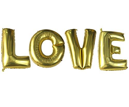 """Preisvergleich Produktbild LOVE 4 Stück 40"""" Folien Ballon Luftballon Buchstaben Hochzeits Wedding"""
