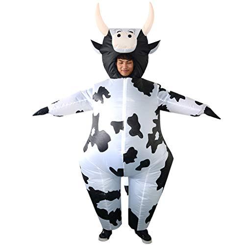 SM SunniMix Kuh Aufblasbares Kostüm Fatsuit Luft Anzug Cosplay Kostüm für Weihnachten Geburtstag und JGA - Aufblasbares Kostüm Kuh