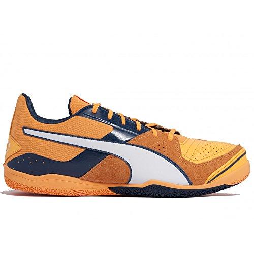 Invicto Sala Indoor - Chaussures de Foot - Orange/Blanc Orange