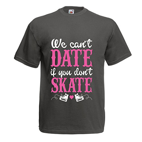 Männer T-Shirt Kein Skate, kein Datum - Coole Zitate Geschenk, lustige Dating Zitate (XX-Large Graphit Mehrfarben)