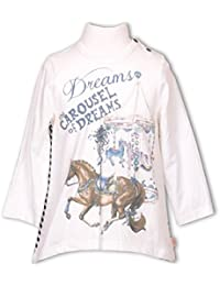 Pezzo Doro Mini M11034-1 Langarmshirt Tunika Shirt Karusell Pferd offwhite