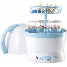 NUK 10251010 Vaporisator 2 in 1, Desinfizieren und Dampfgaren, für bis zu 5 NUK Babyflaschen und Sauger
